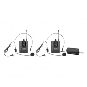 WM 2200 U Professional Universal UHF Handsfree Headsets Wireless Microphones With Rechargeable Transmitter For Headphones