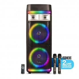 Tango 300 WMU 2021 TWS Portable Trolley Speaker With 2 UHF Wirelss Mic Bluetooth Super Bass Karaoke
